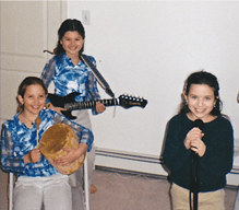 Rachel's younger days during her music lessons