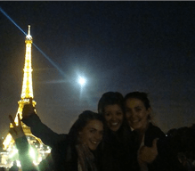 Traveled to Paris with her friends