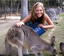 Rachel having fun in Australia!