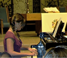 Rachel playing the piano