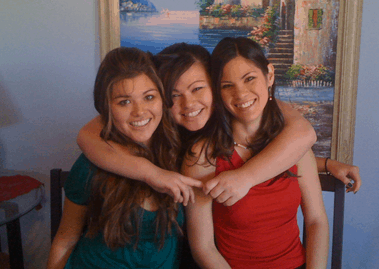 Karen, Stacey and Rachel during their teenage years