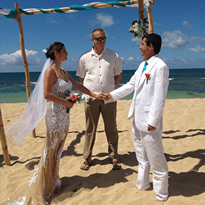 In 2014, Karen married her husband, Brian, in Hawaii