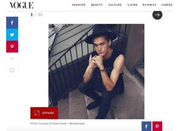 WRA grad Neels Visser, actor, featured in Vogue.