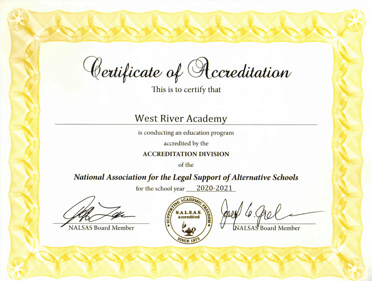 Certificate of Accreditation 2020-2021